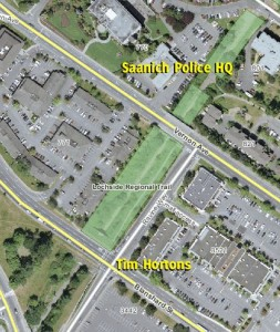 Saanich Police HQ and Tim Hortons