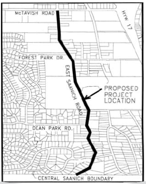 Proposed East Saanich Rd. bike lane